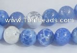 CAB646 15.5 inches 10mm round fire crackle agate beads wholesale