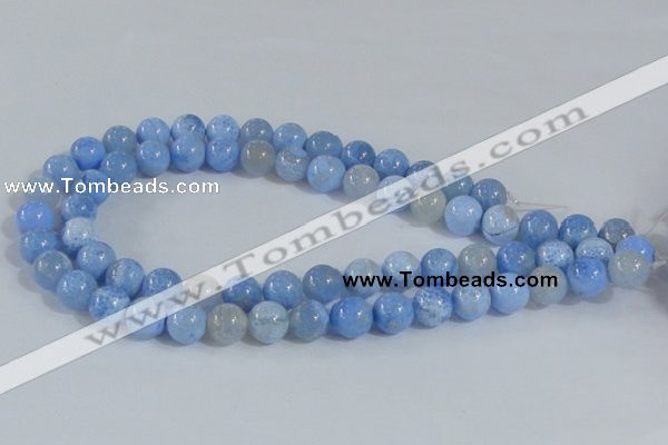 CAB647 15.5 inches 12mm round fire crackle agate beads wholesale