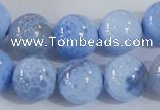 CAB648 15.5 inches 14mm round fire crackle agate beads wholesale