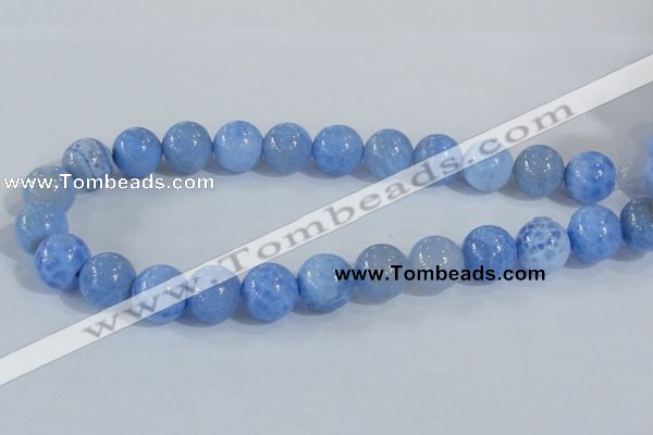 CAB649 15.5 inches 16mm round fire crackle agate beads wholesale