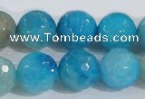 CAB656 15.5 inches 14mm faceted round fire crackle agate beads