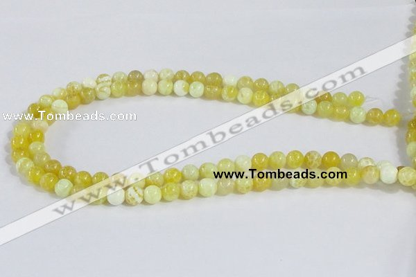 CAB659 15.5 inches 8mm round fire crackle agate beads wholesale