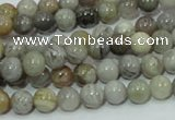 CAB66 15.5 inches 6mm round silver needle agate gemstone beads