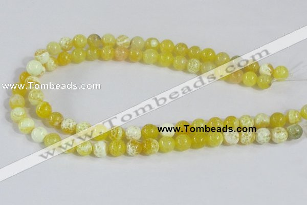 CAB660 15.5 inches 10mm round fire crackle agate beads wholesale