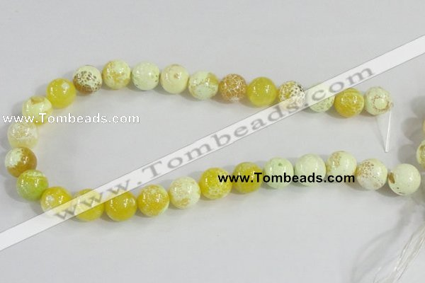 CAB662 15.5 inches 14mm round fire crackle agate beads wholesale