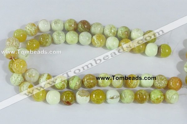 CAB663 15.5 inches 16mm round fire crackle agate beads wholesale