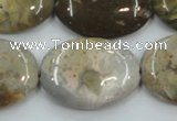 CAB951 15.5 inches 22*30mm oval ocean agate gemstone beads
