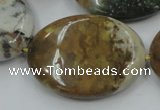CAB952 15.5 inches 30*40mm oval ocean agate gemstone beads