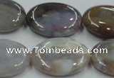 CAB960 15.5 inches 22*30mm oval ocean agate gemstone beads