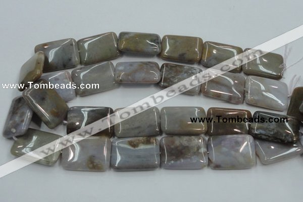 CAB961 15.5 inches 20*30mm rectangle ocean agate gemstone beads