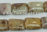 CAB978 15.5 inches 13*18mm rectangle Morocco agate beads wholesale