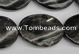 CAE110 15.5 inches 22*30mm twisted oval astrophyllite beads wholesale
