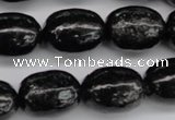CAE18 15.5 inches 15*20mm egg-shaped astrophyllite beads wholesale