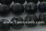 CAE38 15.5 inches 12mm faceted round astrophyllite beads wholesale