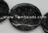CAE52 15.5 inches 40mm flat round astrophyllite beads wholesale
