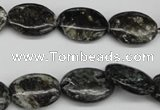 CAE57 15.5 inches 13*18mm oval astrophyllite beads wholesale