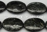 CAE59 15.5 inches 18*25mm oval astrophyllite beads wholesale