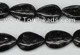 CAE68 15.5 inches 13*18mm flat teardrop astrophyllite beads wholesale