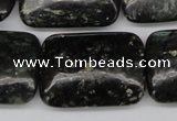 CAE95 15.5 inches 22*30mm rectangle astrophyllite beads wholesale