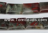 CAF01 15.5 inches 13*18mm rectangle African bloodstone beads