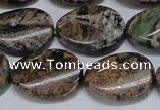 CAF137 15.5 inches 13*18mm twisted oval Africa stone beads
