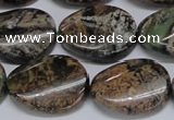 CAF138 15.5 inches 15*20mm twisted oval Africa stone beads