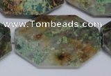CAF155 15.5 inches 35*45mm faceted octagonal Africa stone beads