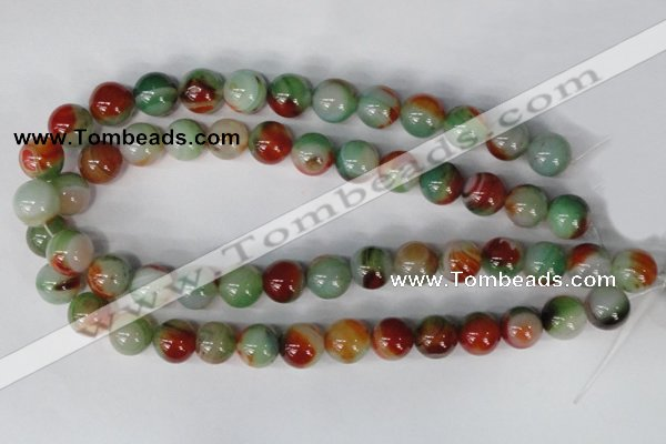 CAG1001 15.5 inches 14mm round rainbow agate beads wholesale