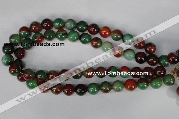 CAG1003 15.5 inches 14mm round rainbow agate beads wholesale