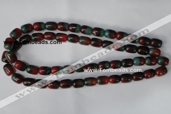 CAG1011 15.5 inches 12*14mm drum rainbow agate beads wholesale