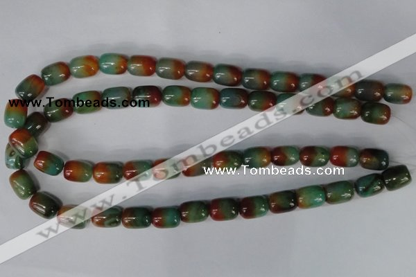 CAG1014 15.5 inches 12*14mm drum rainbow agate beads wholesale