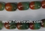 CAG1015 15.5 inches 13*18mm drum rainbow agate beads wholesale