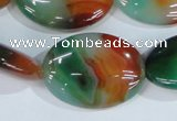 CAG1025 15.5 inches 22*30mm oval rainbow agate beads