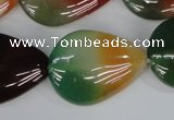 CAG1030 15.5 inches 22*30mm flat teardrop rainbow agate beads