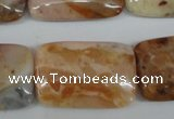 CAG1099 15.5 inches 20*30mm rectangle Morocco agate beads wholesale