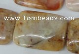 CAG1100 15.5 inches 25*35mm rectangle Morocco agate beads wholesale