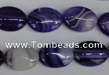 CAG1207 15.5 inches 13*18mm oval line agate gemstone beads