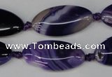 CAG1252 15.5 inches 15*30mm marquise line agate gemstone beads