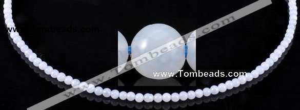 CAG127 Smooth round 3mm blue lace agate gemstone beads wholesale