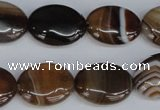 CAG1315 15.5 inches 15*20mm oval line agate gemstone beads