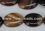 CAG1316 15.5 inches 18*25mm oval line agate gemstone beads