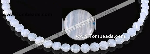 CAG134 5*8mm coin blue lace agate gemstone beads Wholesale