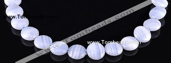 CAG136 coin shape blue lace agate 7*16mm gemstone bead Wholesale