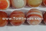 CAG1410 15.5 inches 20mm faceted round line agate gemstone beads