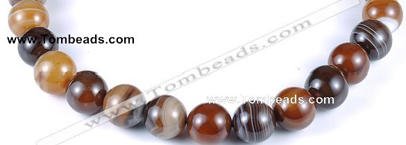 CAG144 round 16mm madagascar agate gemstone beads Wholesale