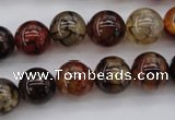 CAG1441 15.5 inches 12mm round dragon veins agate beads
