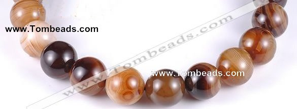 CAG145 round madagascar agate 20mm gemstone beads Wholesale