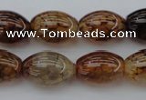 CAG1453 15.5 inches 13*18mm rice dragon veins agate beads