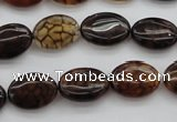 CAG1463 15.5 inches 10*14mm oval dragon veins agate beads