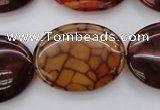 CAG1468 15.5 inches 22*30mm oval dragon veins agate beads